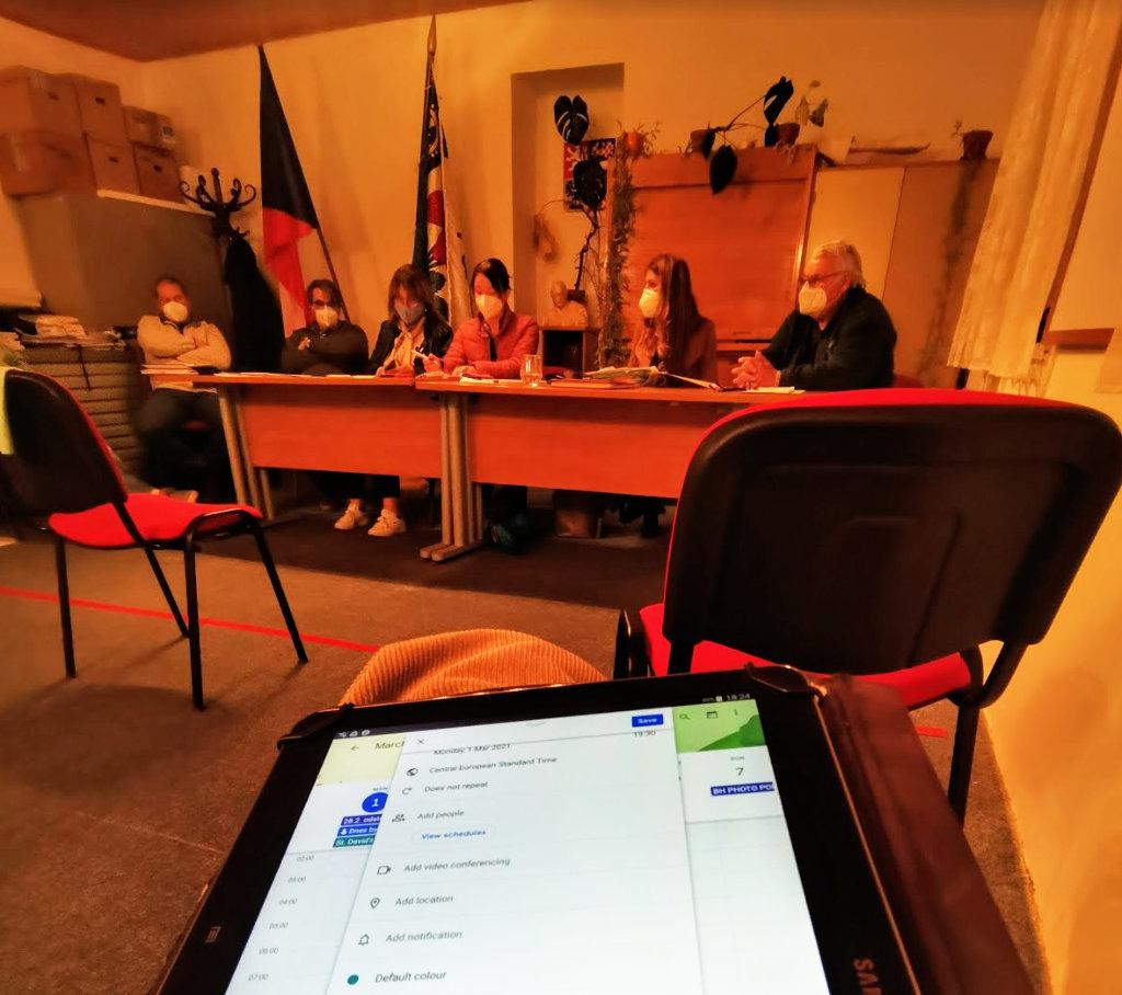 Jednání zastupitestva 1.3.2021