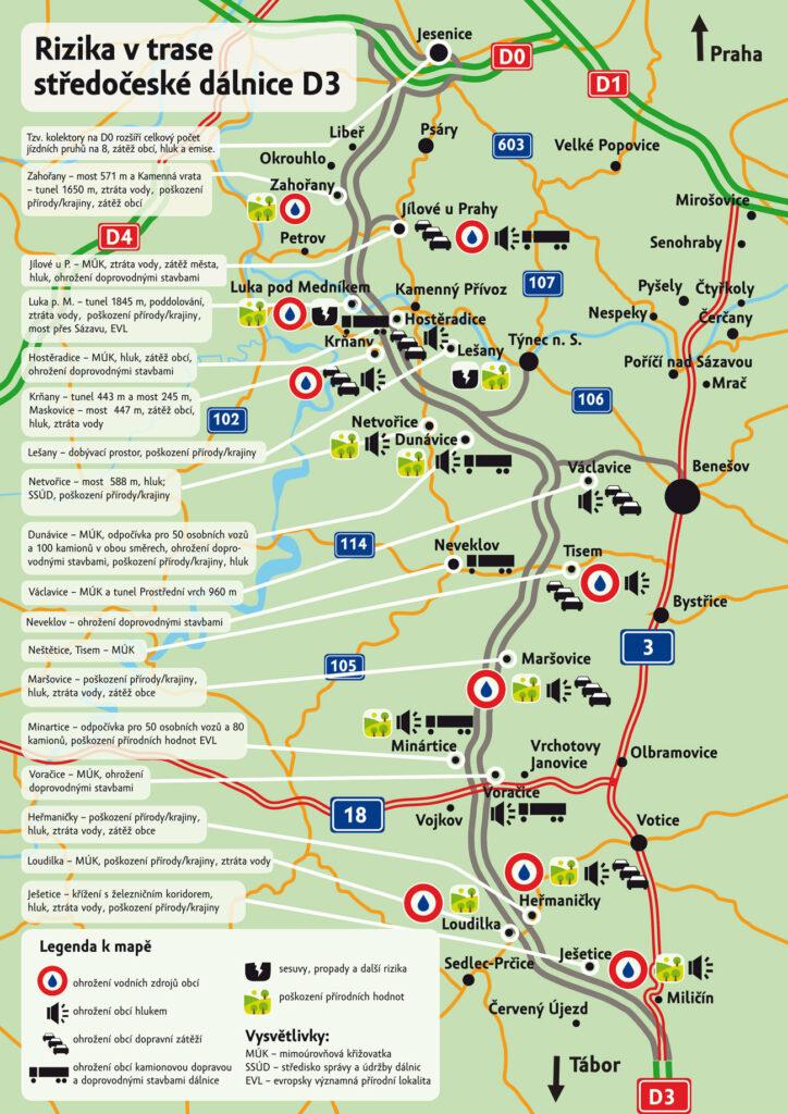 Nepříznivé dopady dálnice D3