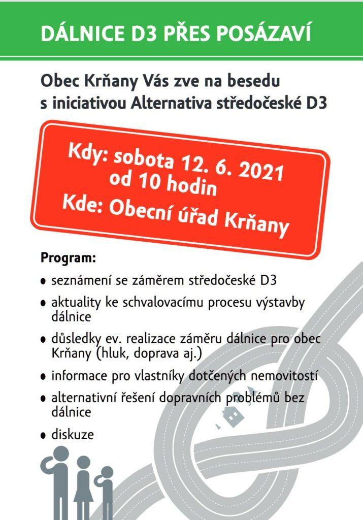 Pozvánka Dálnice D3 Krňany